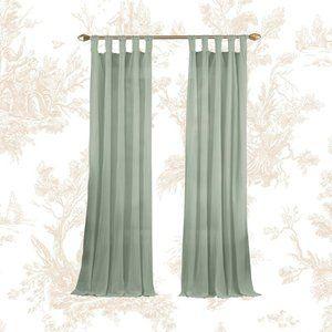 KELLY CLARKSON Home Liebert Green Curtain Panels 2